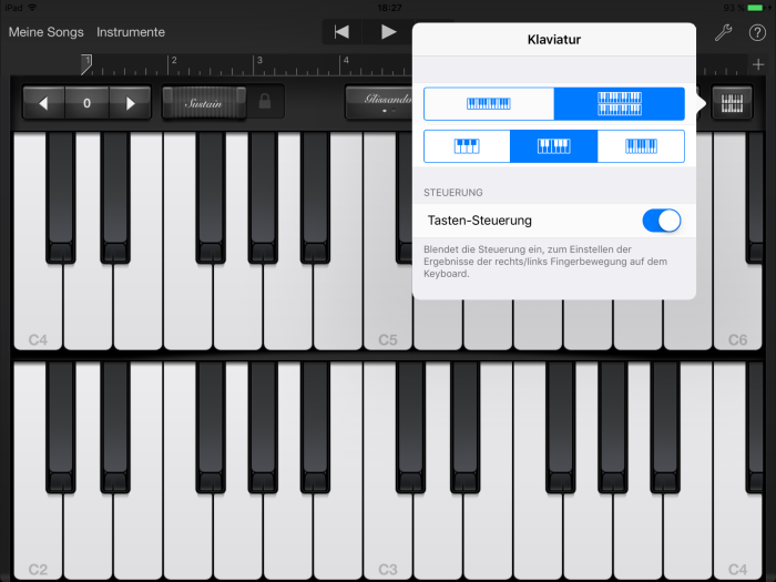 Apple iPad Pro Screenshot Garage Band
