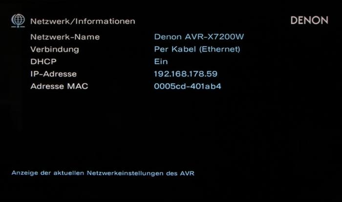 Denon AVR-X7200W Screenshot 25