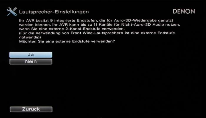 Denon AVR-X7200W Screenshot 6