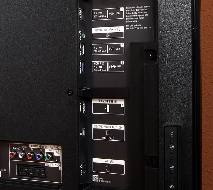 Sony KD-65XD93 Anschluesse Rueckseite2