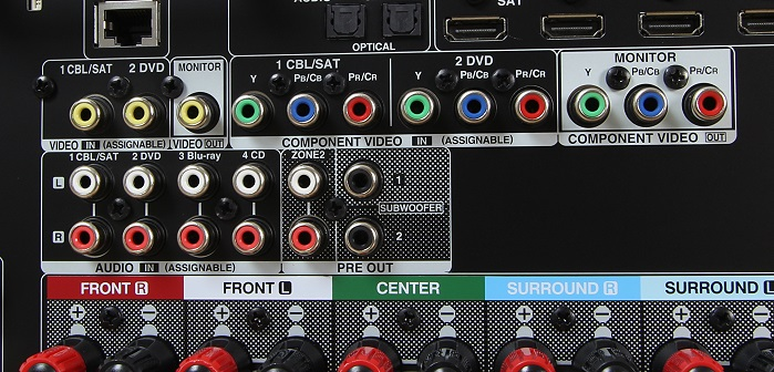 Denon AVR-X2300W Anschluesse Rueckseite2