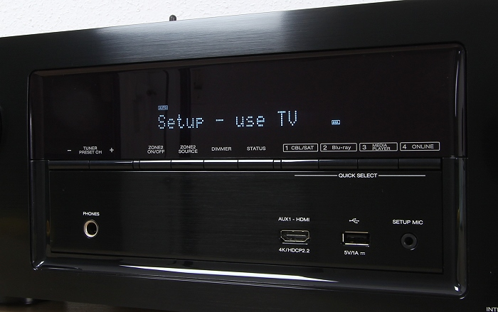 Denon AVR-X2300W Display