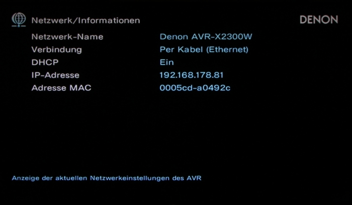 Denon AVR-X2300W Screenshot 34