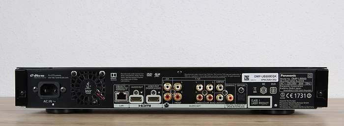 Panasonic DMP-UB900 Rueckseite Seitlich