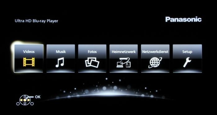 Panasonic DMP-UB900 Screenshot 1