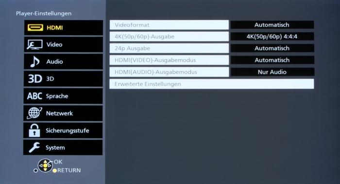 Panasonic DMP-UB900 Screenshot 7