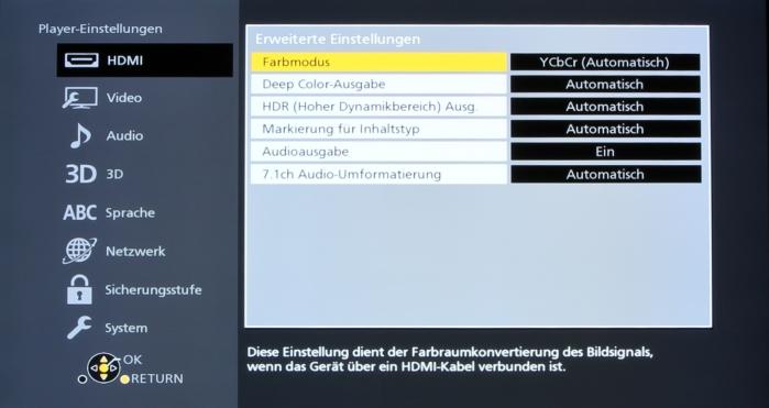 Panasonic DMP-UB900 Screenshot 8