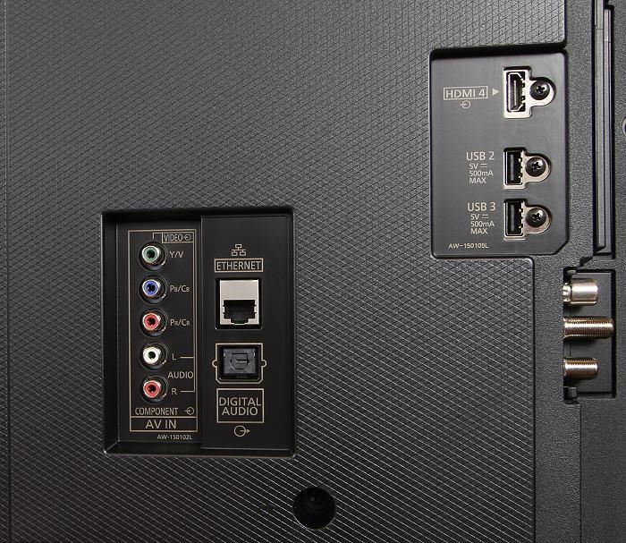 Panasonic TX-65DXW784 Anschluesse Rueckseite1