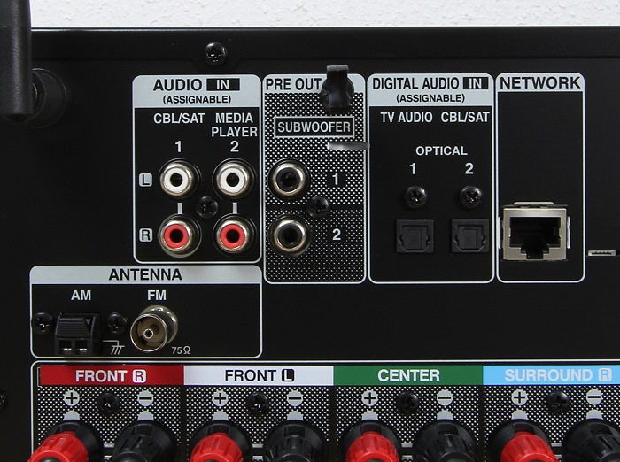 Denon AVR-X1300W Anschluesse Rueckseite2