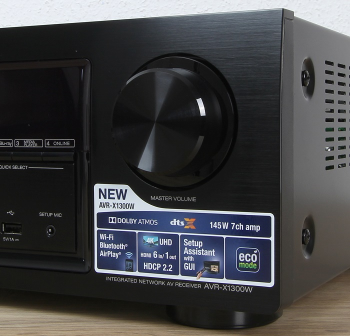 Denon AVR-X1300W Bedienelemente Front1