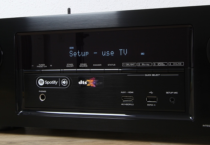 Denon AVR-X3300W Display Bedienelemente