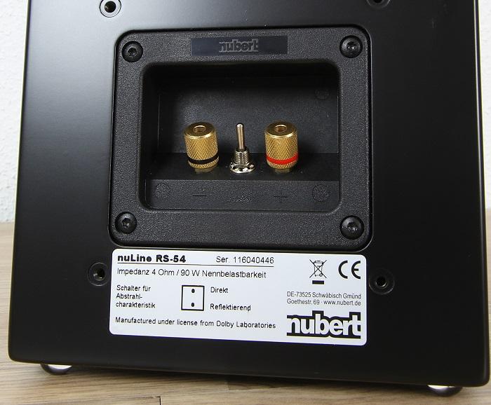 Nubert nuLine Set 2016 nuLine RS-54 Anschluesse