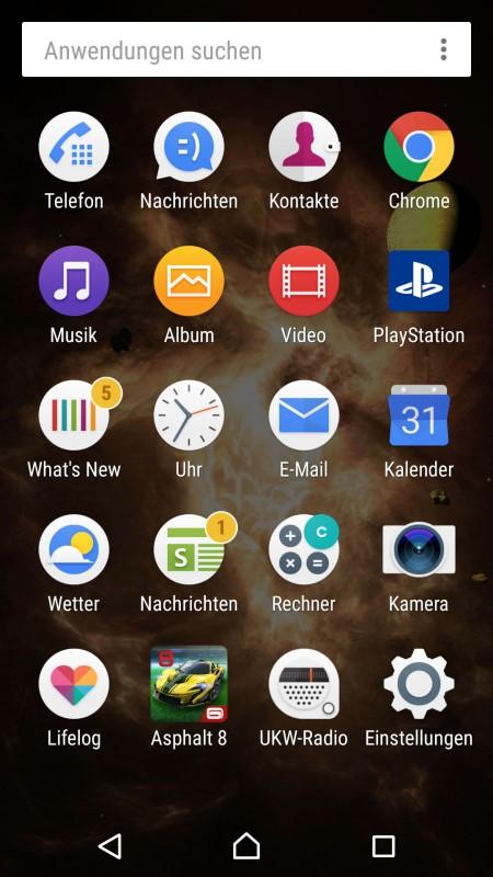 Sony Xperia X Screenshot II