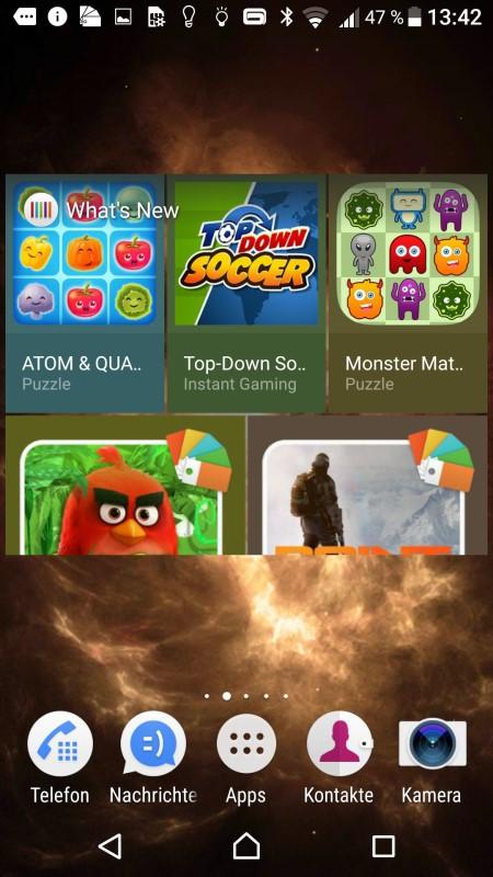 Sony Xperia X Screenshot