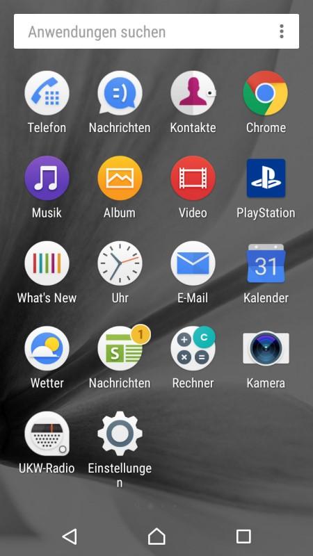Sony Xperia XA Screenshot