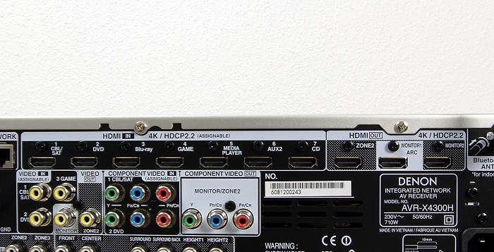 Denon AVR-X4300H Anschluesse Rueckseite2