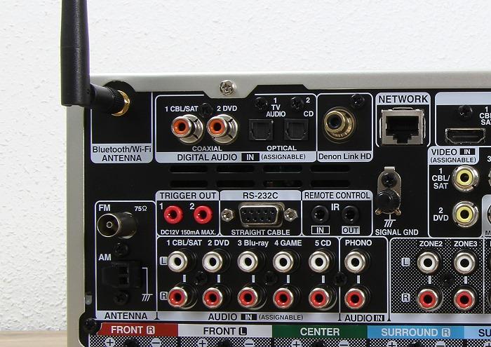 Denon AVR-X4300H Anschluesse Rueckseite3