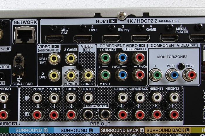 Denon AVR-X4300H Anschluesse Rueckseite4