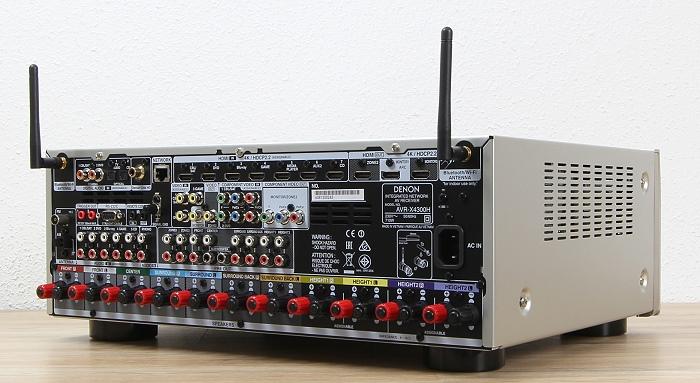Denon AVR-X4300H Rueckseite Seitlich