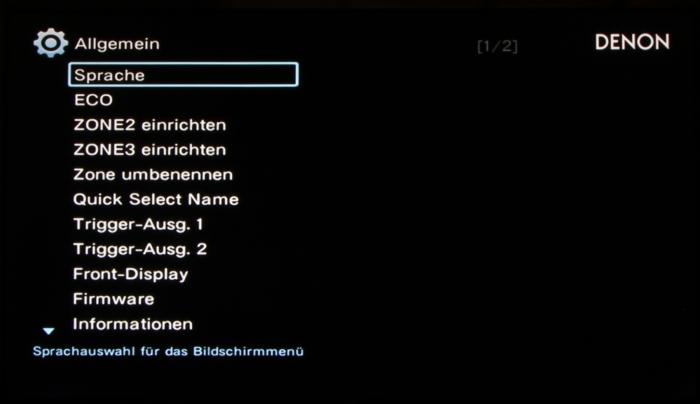 Denon AVR-X4300H Screenshot 33