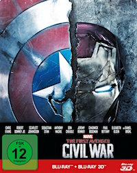 The First Avenger Civil War Blu-ray 3D