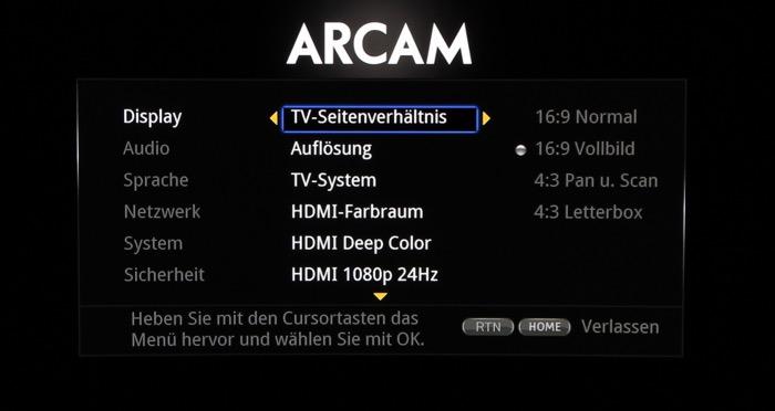 Arcam_Menue_3
