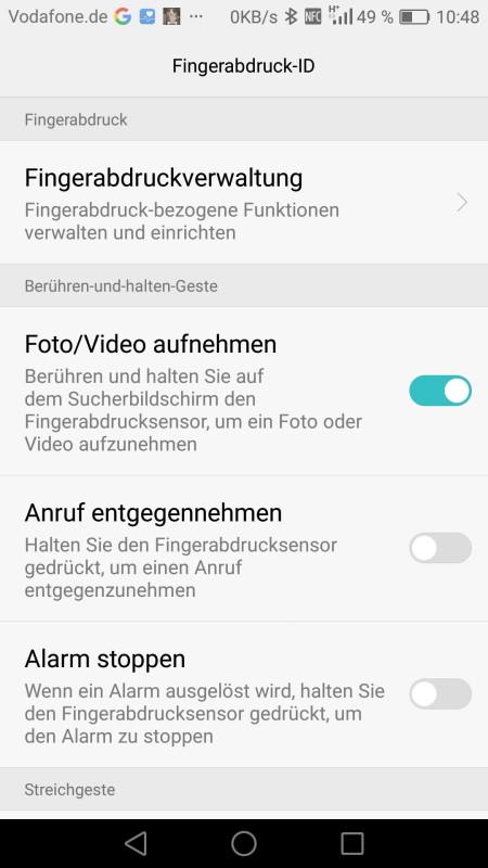 Honor 8 Screenshot Fingerprintscanner