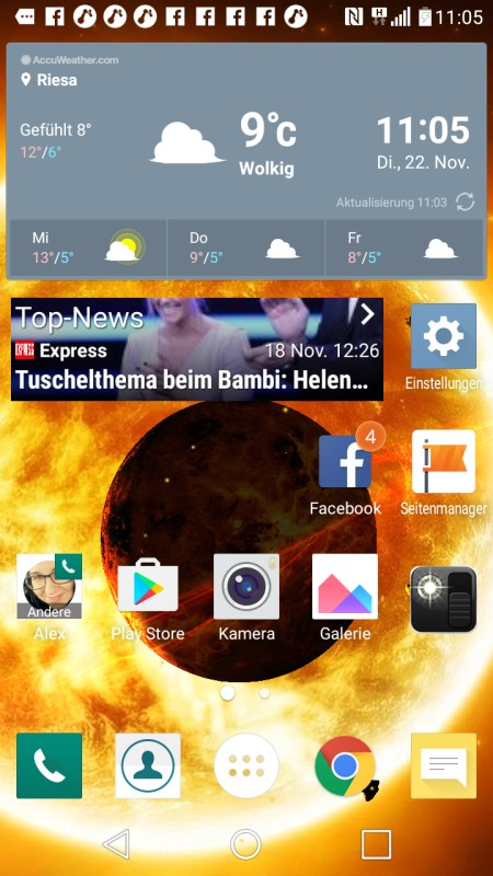 LG K8 Screenshot