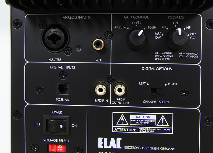 Elac-Active-Monitor-AM-200-Anschluesse-Bedienelemente