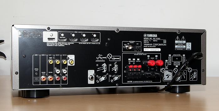 Yamaha RX-V383 Rueckseite Seitlich