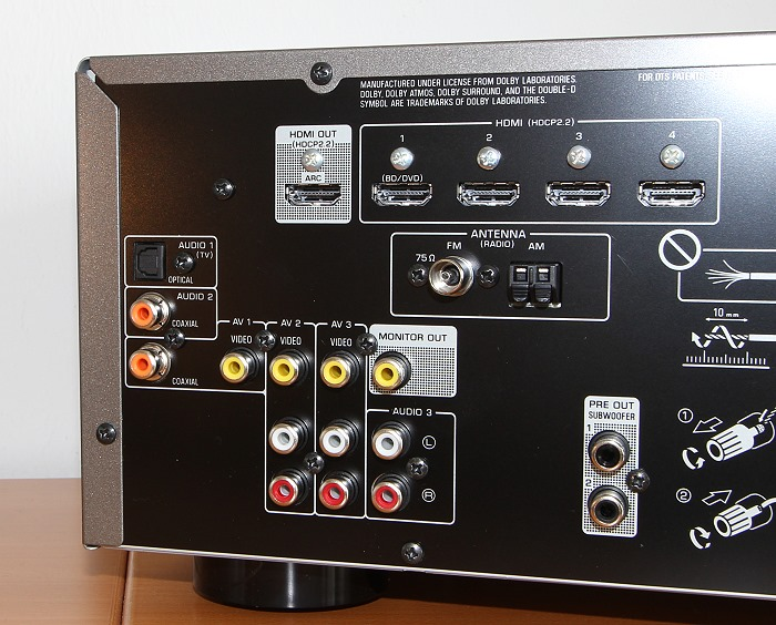 Yamaha RX-V583 Anschluesse Rueckseite2