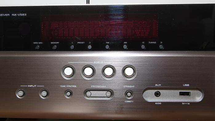 Yamaha RX-V583 Bedienelemente Front2