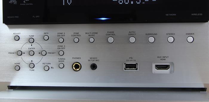 Pioneer-SC-LX901-Bedienelemente-Frontklappe