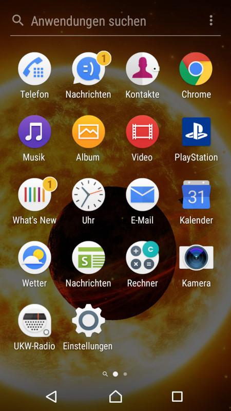 Sony XA1 Screenshot