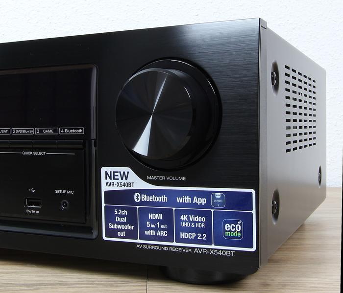 Denon-AVR-X540BT-Bedienelemente-Front1