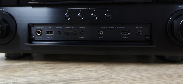Yamaha-RX-A870-Bedienelemente-Frontklappe