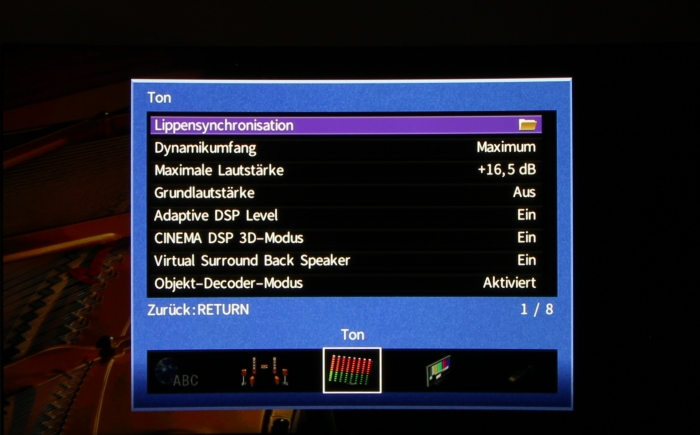 Yamaha RX-A870 Screenshot 7