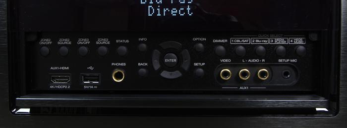Denon-AVR-X6400H-Bedienelemente-Frontklappe