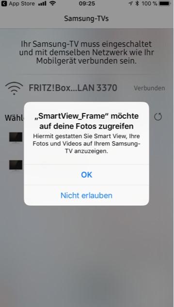 Samsung The Frame App Verbindung