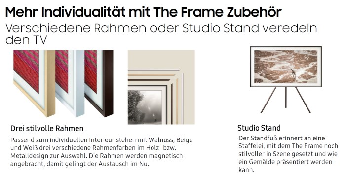 Samsung The Frame Zubehoer