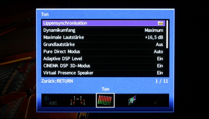 Yamaha RX-A3070 Screenshot 6