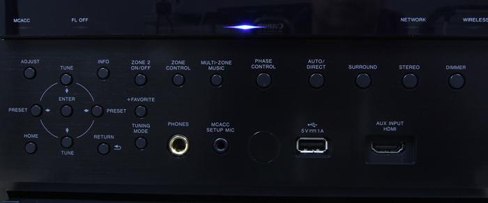 Pioneer-SC-LX502-Bedienelemente-Frontklappe