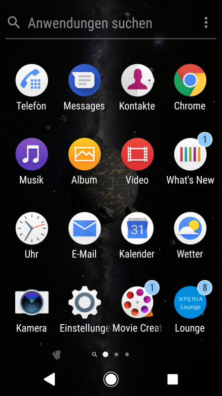 Sony Xperia XZ1 Screenshot