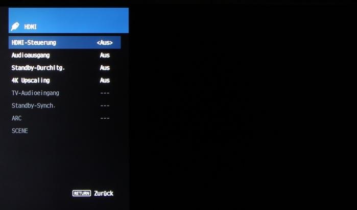 Yamaha RX-V483 Screenshot 7