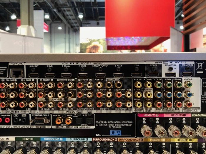 Denon AVR-X8500 back 2