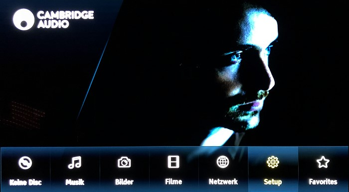 Cambridge Audio CX UHD Home Menu