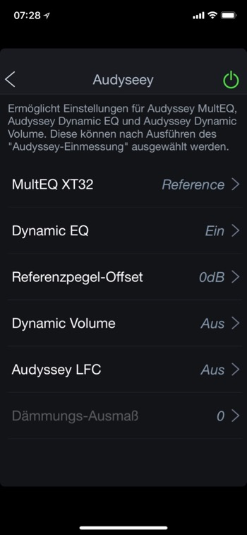 Denon AVC-X8500H AVR App Audyssey