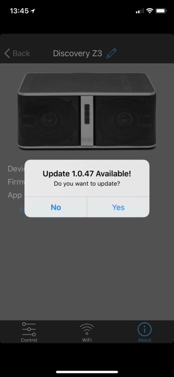 Elac Discovery Z3 App Update1