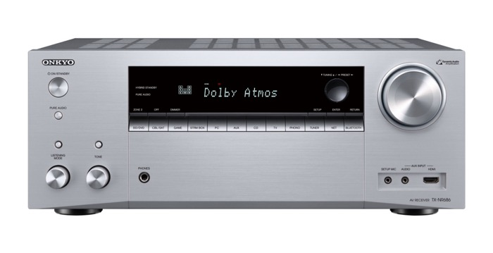 Onkyo TX-NR686 silver front