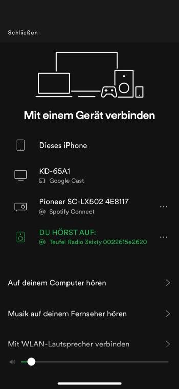 Teufel radio 360 Spotify 1